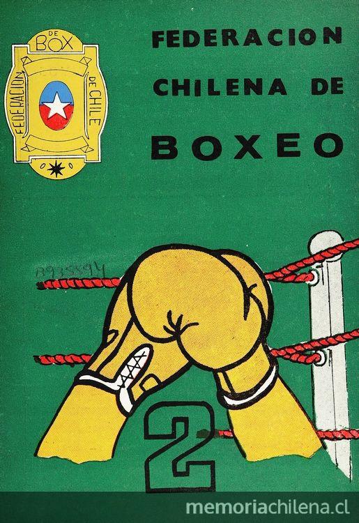 "Portada revista ""Federación chilena de Boxeo"", 1897 - 1985."